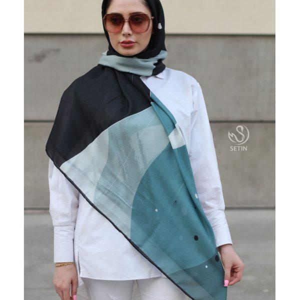 روسری سبز مشکی